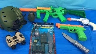 Box of Toys 💥 Toy Guns 🎁 Box Full of Toys 🚨 Military Toys ⚔️ Toy Weapons 🎉 Toys for Kids