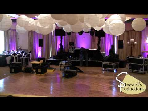 Time Lapes - Dallas Prom DJ - Setup  in 1.5 Hours Rock Star Package with Up Lighting DMX 512