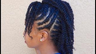 Natural Hair   Flattwist Mohawk Protectivestyle