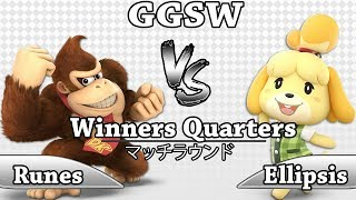 GGSW 117 - Runes (Donkey Kong) Vs Ellipsis (Isabella) Smash Ultimate Winners Quarters