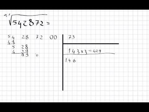algoritmo per il calcolo della radice quadrata