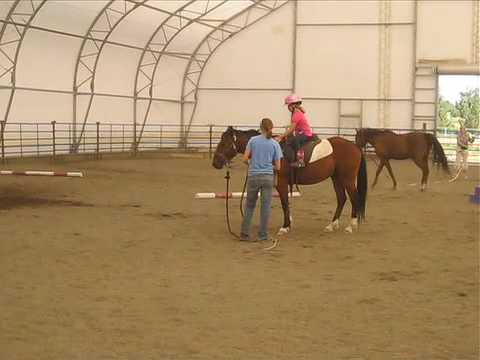 Beginner Horseback Riding Lesson: Using Poles to Help a Rider Learn How to Post