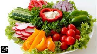 Овощная Нарезка | Как Просто и Красиво Подать Овощи на Праздник!