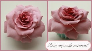 polymer clay Rose Cupcake TUTORIAL | cupcakes project part 1