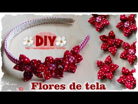 DIY: Como hacer Flores de Tela | DIY Spring Fabric Flowers