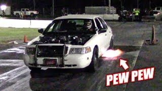 Testing the GT500 Crown Vic w/NEW Cams and Pulley... Making A LOT More Boost!