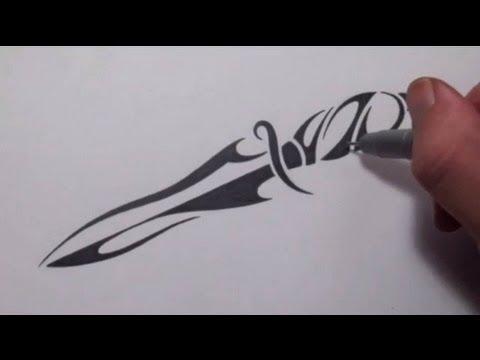 Тату черной ручкой