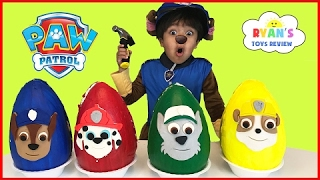 Paw Patrol Play Doh Surprise Eggs Toys for Kids! Chase Marshall Rubble Kids Costume PAN