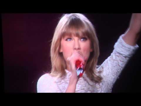 Taylor Swift in Concert in Atlanta (4-18-2013) - Atlanta Welcome, beginning of 'Red'