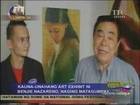 Benjie Nazareno, Filipino artist in Great Britain
