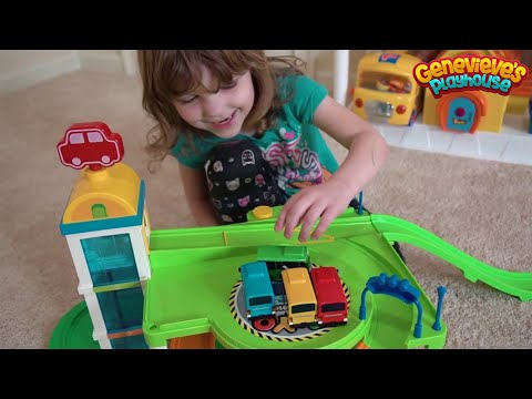 Cute Kid Genevieve Plays with Tayo the Little Bus Elevator!