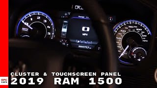 2019 Ram 1500 Truck Uconnect 7 inch Cluster & Touchscreen Panel Interior