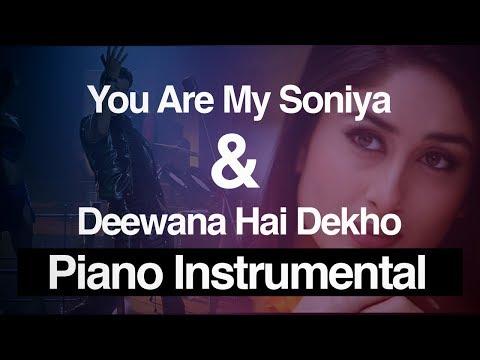You Are My Soniya / Deewana Hai Dekho Mashup K3G | Piano Instrumental