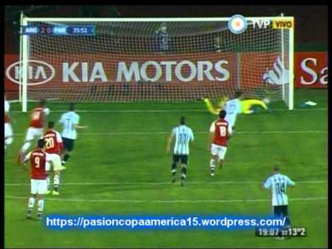 Argentina 2 Paraguay 2 (Relato Lucas Agosta)  Copa America 2015