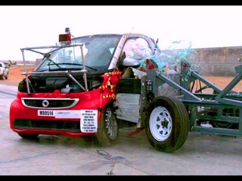 2013 Smart Fortwo Electric Drive | Краш-тест, боковой удар