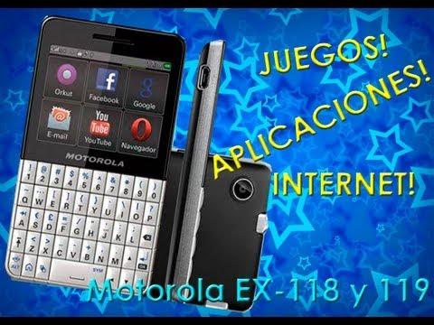 Juegos,Aplicaciones e internet Gratis para Motorola ex 118 y 119 (VDEO ORIGINAL).