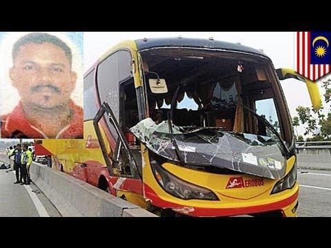 Malaysian bus driver killed by own bus in freak accident