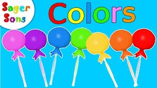 Learn Colors for Kids - Lollipop - Kids TV - Toddler Preschool Learning Educational By Sager Sons