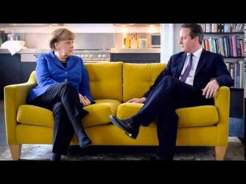 BBC News-David Cameron and Angela Merkel set for UK talks