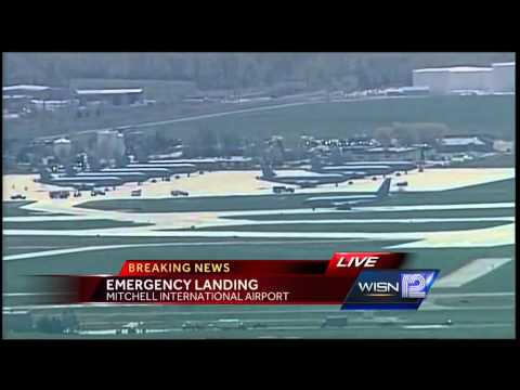 Tanker with failed engine makes emergency landing