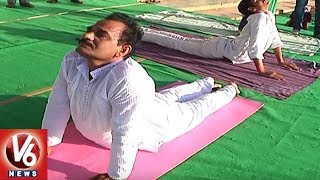 4th International Day of Yoga Celebrations In Khammam District