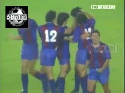 Real Madrid 3 vs Barcelona 2 Liga España 1988/89 Bakero, Hugo Sanchez FUTBOL RETRO TV