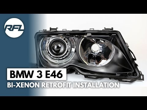 BMW 3 E46 Bi-xenon projector headlight retrofit kit explained