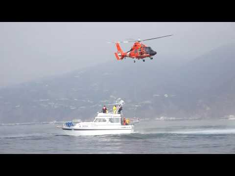 US Coast Guard and USCG Auxiliary - Helo Ops Training 2 - Clip 4 Video