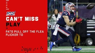 Brady Hits Julian Edelman on Classic Flea Flicker TD!