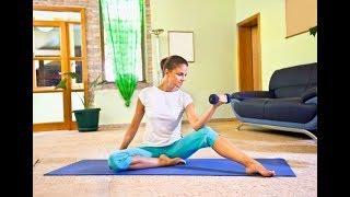 Жиросжигающий комплекс упражнений для девушек. Фитнес в домашних условиях.
