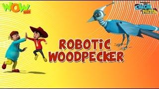 Download Robotic Woodpecker - Chacha Bhatija - Wowkidz - 3D Animation Cartoon for Kids  As seen on Hungama TV 3Gp Mp4