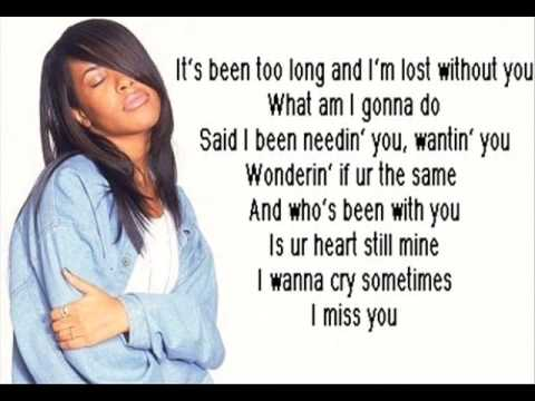 Aaliyah I Miss You Karaoke Intrumental + LYRICS