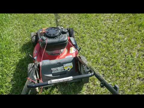 22 inch Troy-Bilt push mower High Rev