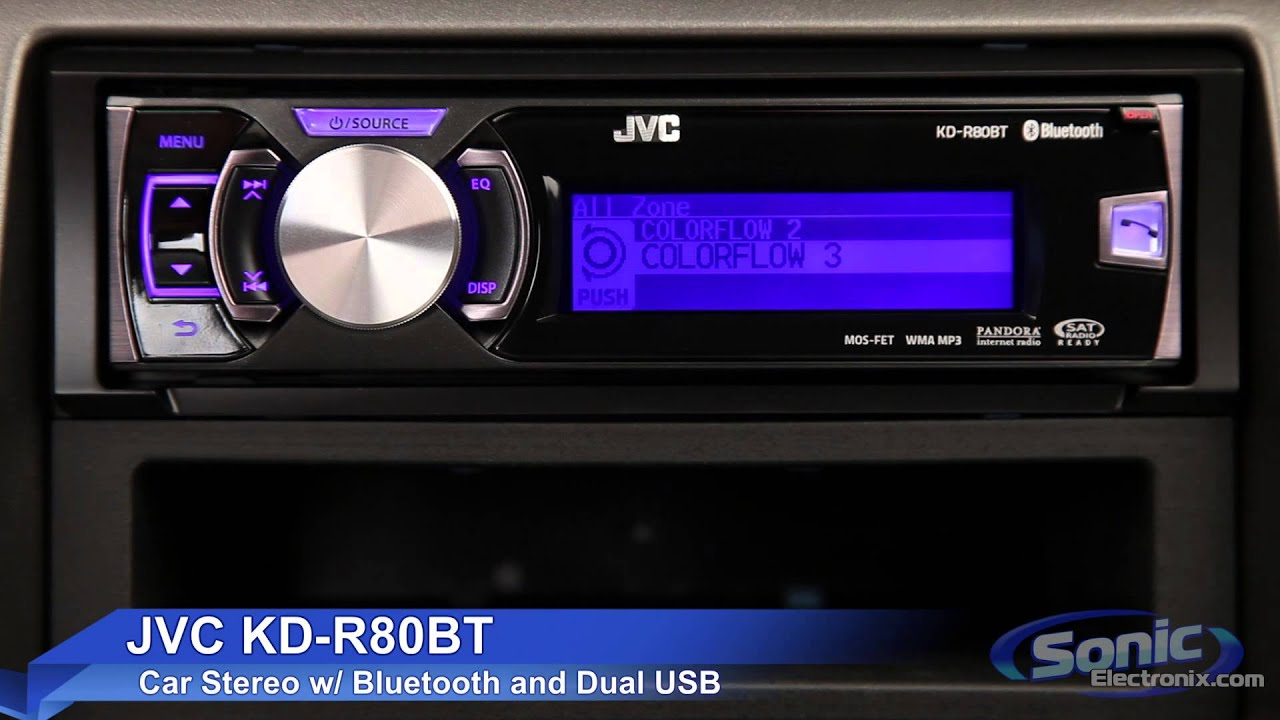 jvc kd r80bt car stereo ipod iphone android ready w. Black Bedroom Furniture Sets. Home Design Ideas