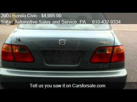 2000 Honda Civic LX sedan - for sale in Allentown. PA 18109