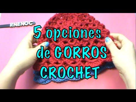 OPCIONES GORROS, MISMO PASO A PASO, IDEAS ganchillo crochet