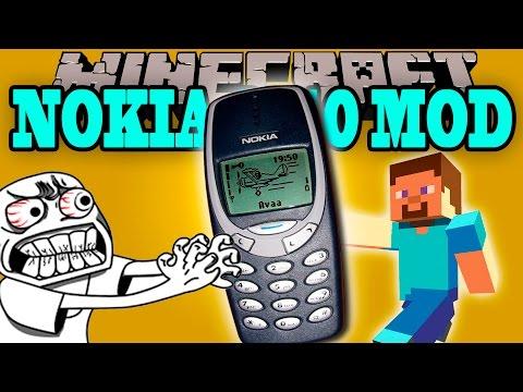 NOKIA 3310 MOD - Tira a la basura tu iphone!! - Minecraft mod 1.5.2 Review ESPAÑOL