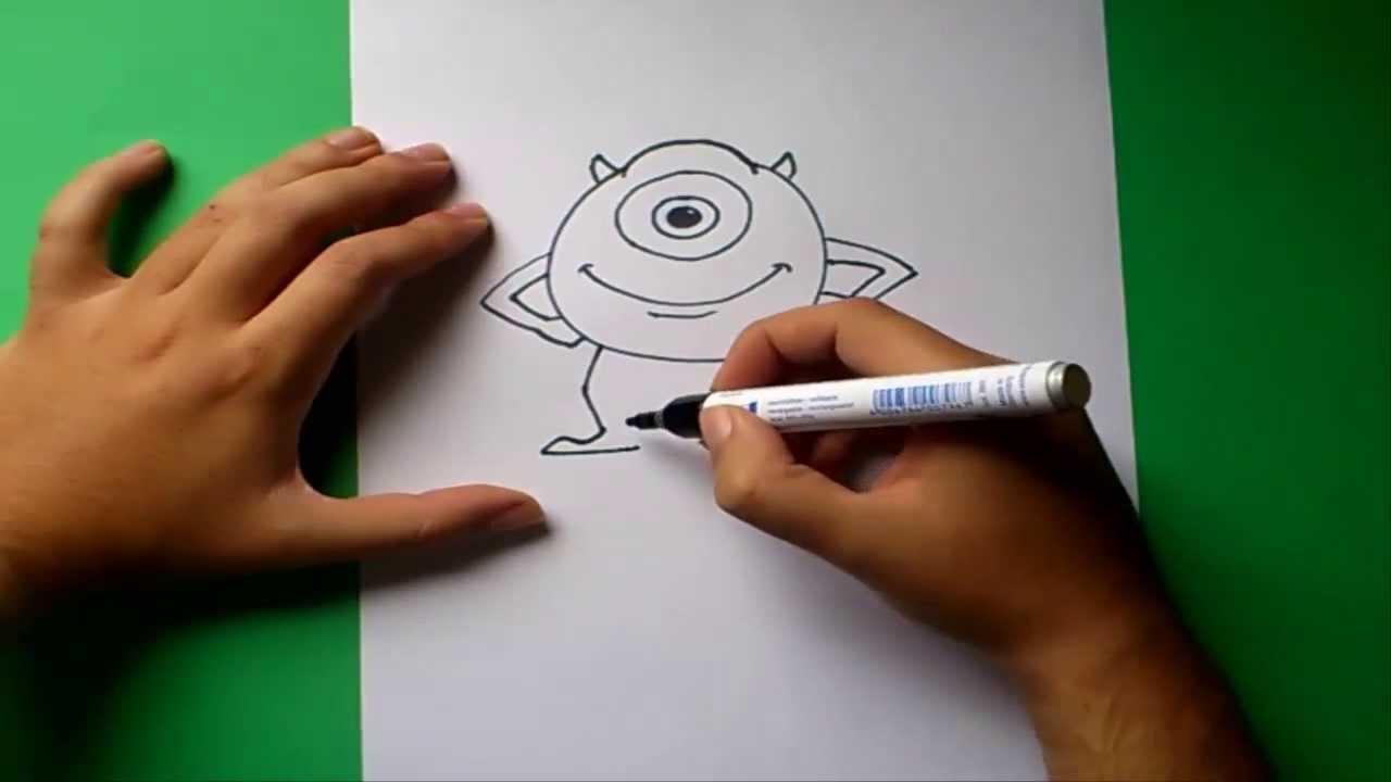 Como Dibujar A Mike Paso A Paso - Monstruos S.a.