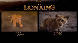 The Lion King ~ 1994 vs 2019 Trailer Comparison