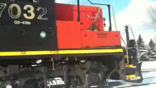 The best Sound to hear of an EMD GP9 567 from CN in Montreal, Canada 3