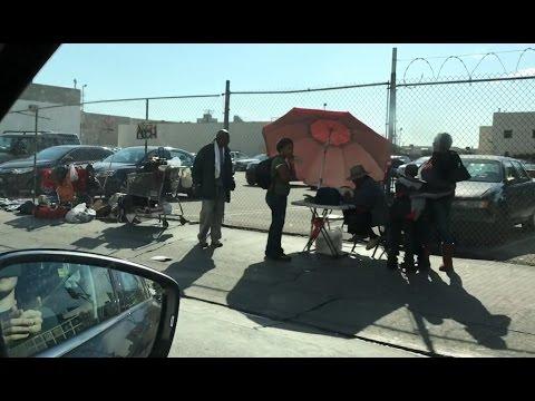 Лос-Анджелес – город бомжей? Район Skid Row, где живут 11 000 бездомных // Vlog 009
