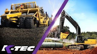 K-Tec Scraper vs. Excavator & Articulated Dump Trucks