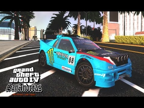 GTA IV San Andreas Beta - Ford RS200 Evolution rallycross version (DiRT2)