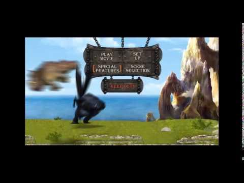 menu de como entrenar a tu dragon dvd 2010
