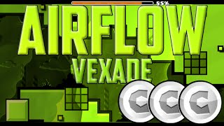 Airflow By Vexade! EASY COINS! Geometry Dash 2.0
