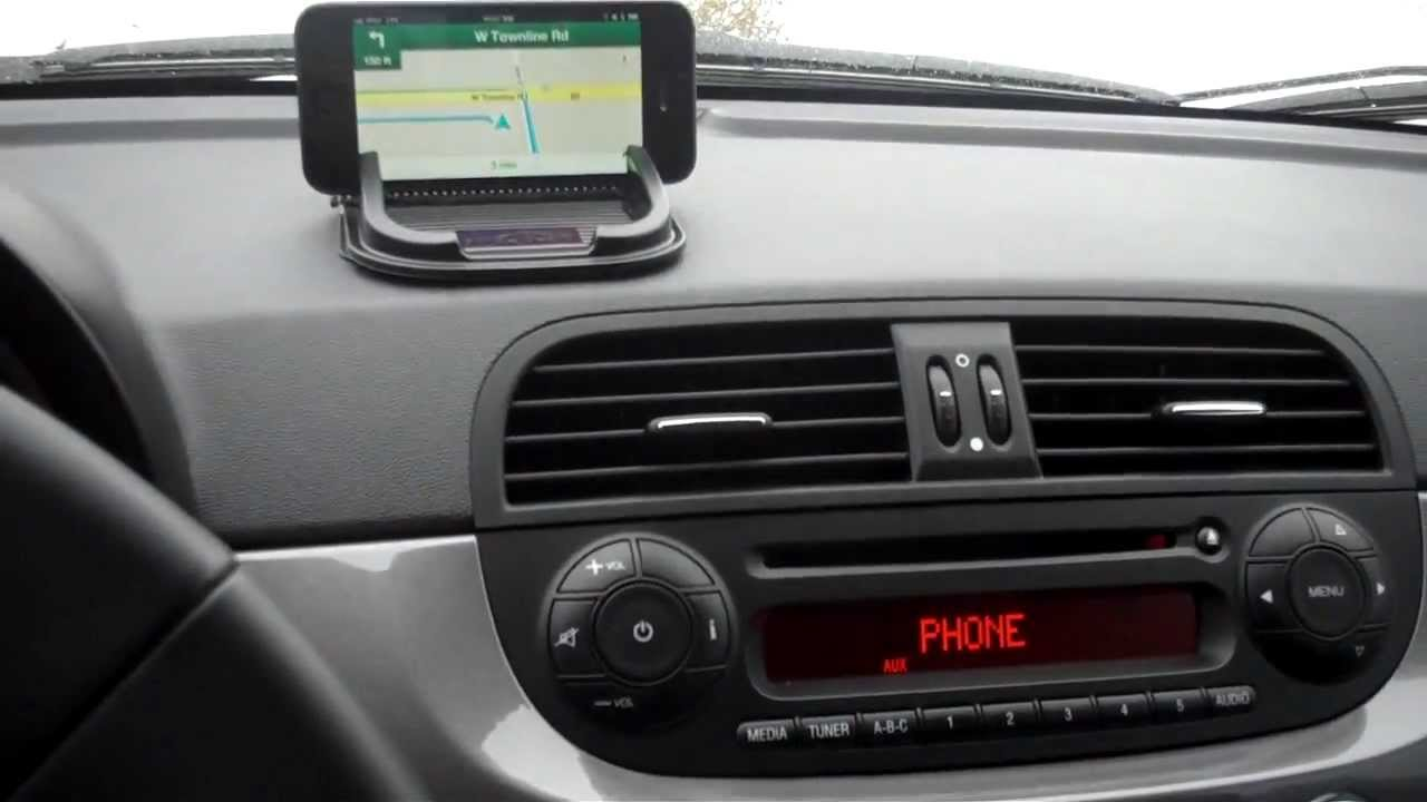how to get gps directions to come through your speakers in a fiat 500 youtube. Black Bedroom Furniture Sets. Home Design Ideas