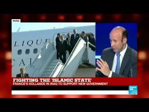 Fighting the Islamic State - President Hollande arrives in Iraq