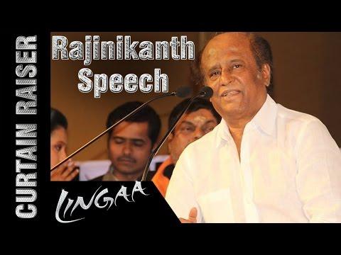 Rajinikanth Full Speech | Lingaa Curtain Raiser | Anushka | Sonakshi Sinha | AR Rahman