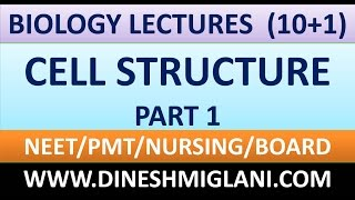 CELL STRUCTURE SESSION 1 BIOLOGY  CLASS 10+1 FOR PMT, MEDICAL, NEET, NURSING, BOARD CLASSES