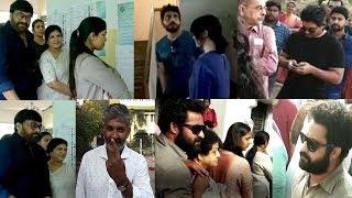 Tollywood Celebrities Casts Their Vote #Megastar #Nagarjuna #JrNTR #AlluArjun #SSRajamouli